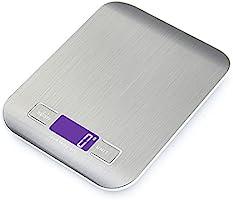 GPISEN Báscula Digitales de Precisión 5 kg/11 lbs,pesar Frutas,Granos,Carne u otro Líquido Báscula de Joyería,con...