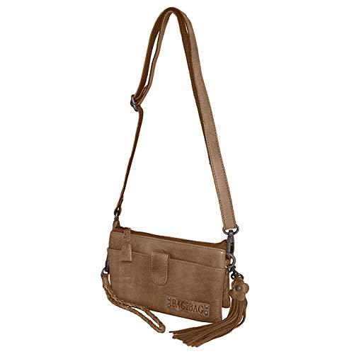 Bag2Bag Schoudertas/Clutch/Portemonnee Dover Grijs