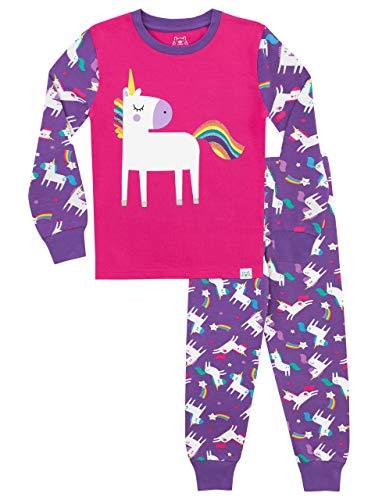 Harry Bear Pijamas para niñas Unicornio Ajuste Ceñido Multicolor 9 a 10 Años