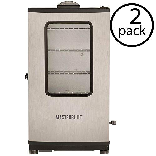 Best Buy! Masterbuilt 40 Outdoor Barbecue Digital Electric Meat Smoker w/ Remote (2 Pack)