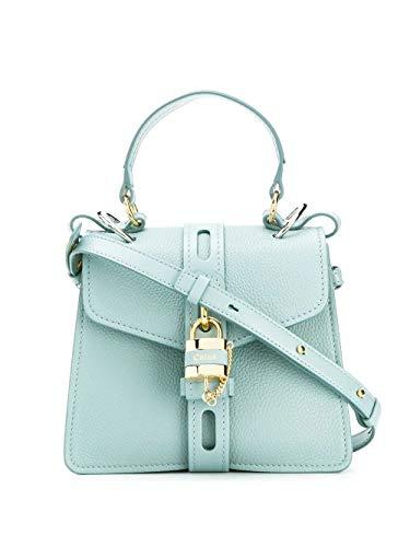 Chloé Luxury Fashion Damen CHC19WS205B7144L Hellblau Leder Handtaschen | Jahreszeit Permanent