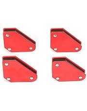 Lasmagneten - 4 stuks 9LB Mini Magnetic Quick Clamp Tool lashouder in rood