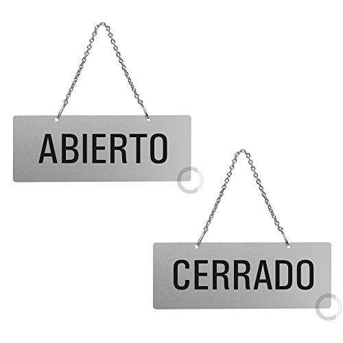 Placa Aluminio | Cartel Colgar Abierto -