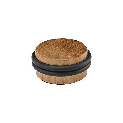 Türstopper aus Holz mit doppeltem O-Ring aus Gummi (Eichenholz), 4 cm