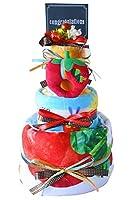 おむつケーキ バスタオル付き はらぺこあおむし 3段 出産祝い 男女兼用 布 絵本 贈り物 内祝い (パンパースS)