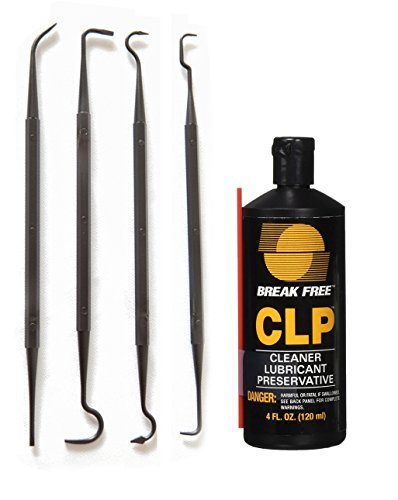 Break-Free CLP-4 Cleaner Lubricant Preservative Squeeze Bottle (4 -Fluid Ounce) and Gun Picks