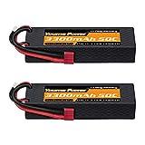 Youme Power Lipo 3S, 11.1V 3 Celdas Lipo Batería 3300mah Estuche rígido 50C Deans T Conector para RC Traxxas Cars Barco camión Buggy Truggy (5.43x1.81x0.98inch)