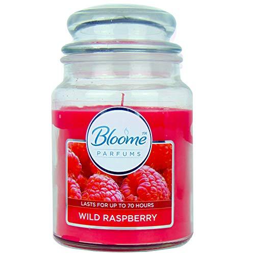 Bloome Velas aromáticas de frambuesa silvestre (70 horas de tiempo de