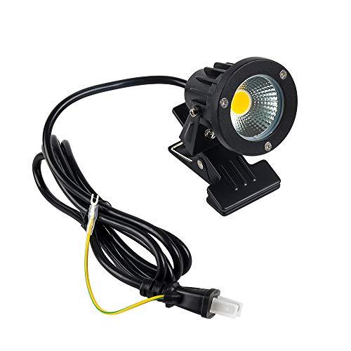 LEDクリップライト 看板用・黒板用照明 7W (60W相当) 電球色 防雨 防水型 コード長約2m 電気スタンド デスクスタンド ピッコロライト アウトドア・エクステリアライト スイッチなし