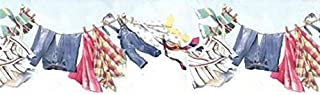 Wallpaper Border Laundry Room Clothes Line Clothesline Die Cut Bottom Edge