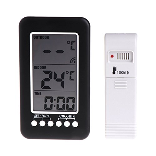 Besttse en/extérieur Thermomètre numérique sans Fil Station météo Horloge ℃/℉ hygromètre