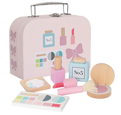 JaBaDaBaDo Schminkköfferchen W7144 pink mit Holzaccessoires für die kleine Dame