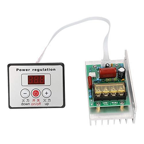 SCR Controlador de velocidad del motor,8000 W AC 220V Regulador electrónico digital...