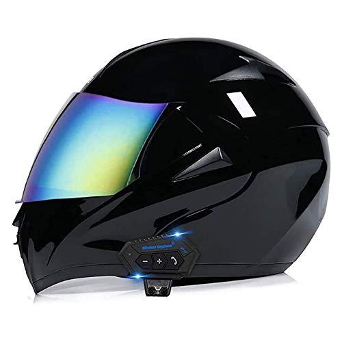 Casco modular con Bluetooth ECE del casco El casco de motocicleta todoterreno de carreras de cara completa con parlantes integrados de visera solar doble ha sido aprobado para hombres y mujeres,B,XL