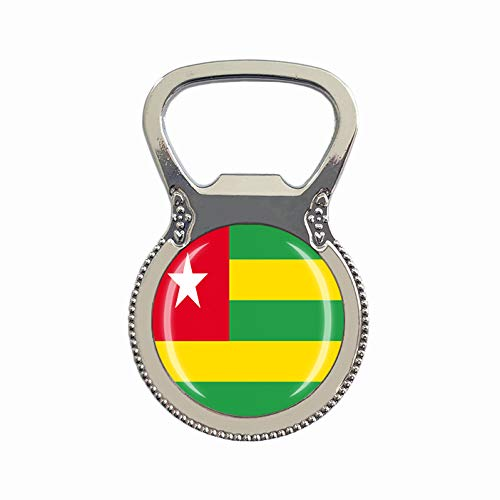 Togo Flagge Bierflaschenöffner Kühlschrank Magnet Metall Glas Kristall Reise Souvenir Geschenk Heimdekoration