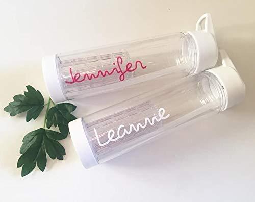 Love White water bottle island gift personalised school straw