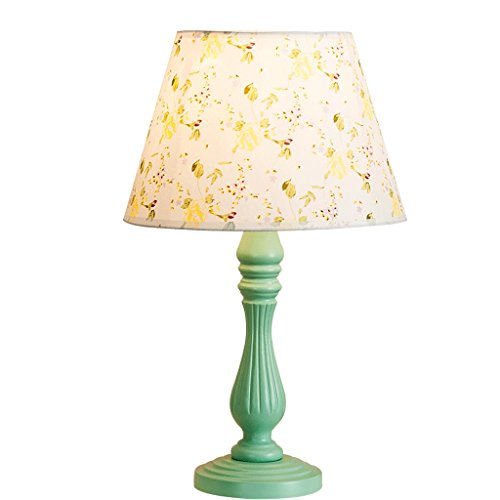 LEGELY Natuurlijke kleine bloemen-tafellamp, Europese moderne pastorale stijl creatieve lamp, werkkamer woonkamer slaapkamer nachtkastje lamp, E27, groen