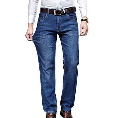 Hombre Authentics Classic Regular-Fit Jean Otoño/Invierno Tallas Grandes Business High-Rise-Leg Stretch Jeans 34