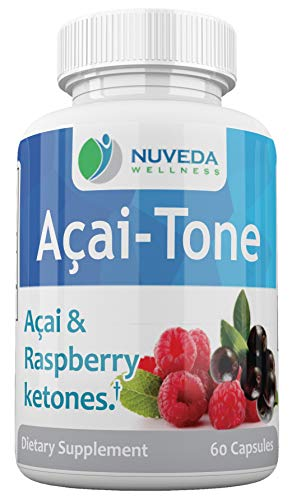 Acai & Raspberry Ketone Weight Loss Dietary Supplement - Great For KETO Diet - Metabolism Booster - GMP Certified - 60 Capsules