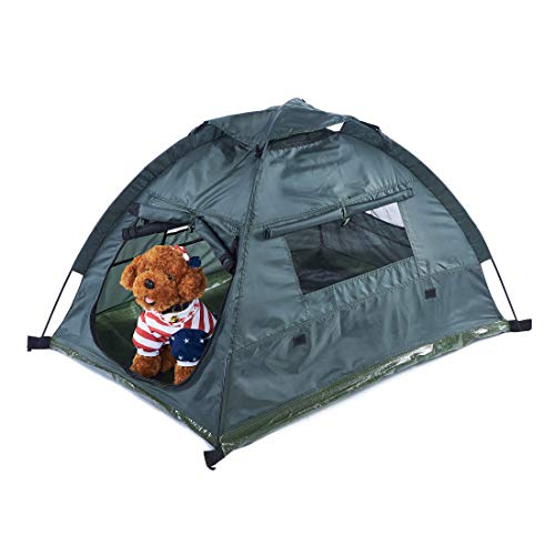 Pettom Dog Cat Camping Tents 45.3' L 34.6' W 28.3' H Pet Travel Bed Beach Tent Dog House...