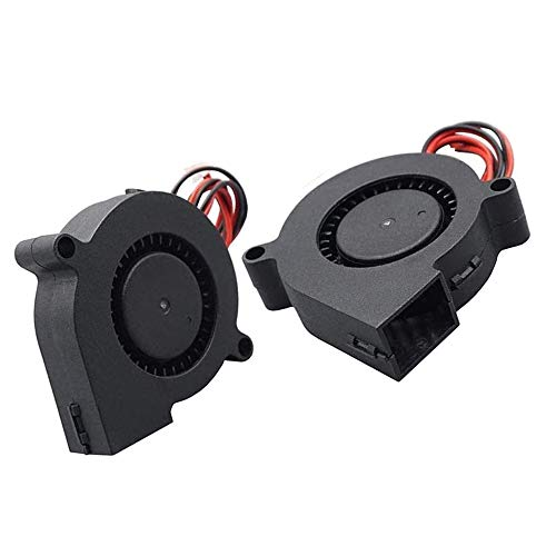 Furiga Ventilador para impresora 3D 5015 24 V Ventilador 50 x 50 x 15 mm Ventilador de 30 cm para extrusora Disipador de calor 2 unidades