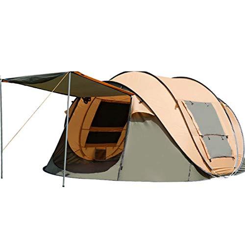 SPFTOY Camping ZeltAußen 4-5 Person Vollautomatische Doppel Painproof Pop-Up Big Raum Zelte Camping Anti-UV-Camping-Zelt,Camel,4~5 People