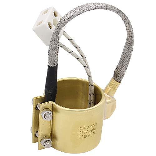 SODIAL Riscaldante Elettrico nel Rame per Riscaldatore un Fascia nel Ottone 40X40M 220V 220W