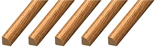 "CalFlor MD20035 Quarter Round ¾"" x ¾"" x 94"" Floor Base Molding for Wood, Laminate, WPC, LVT & Vinyl, 5 Pack, Natural Oak, 5 Piece"