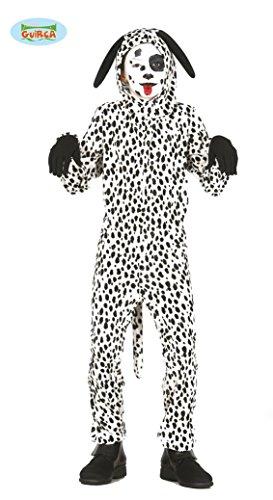 Guirca Dalmatiner Kostüm für Kinder Kinderkostüm Tier Hund Hundekostüm Gr. 98-146, Größe:110/116