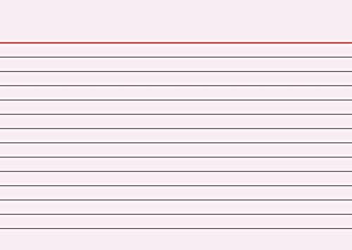 Brunnen 102260120 Karteikarte (A6 liniert, 100 Stück, eingeschweißt) rot