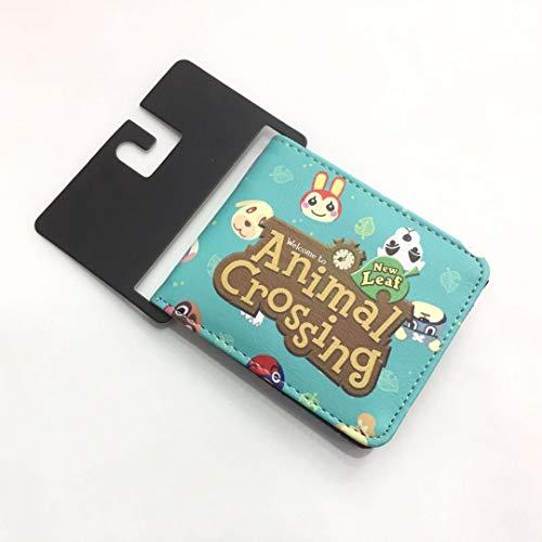 FENGHE Cruce de Animales Juguete Animal Crossing Animal Crossing Friends Association Billetera periférica Estudiantes Masculinos y Femeninos Monedero Corto de PU Monedero Estuche para Tarjetas