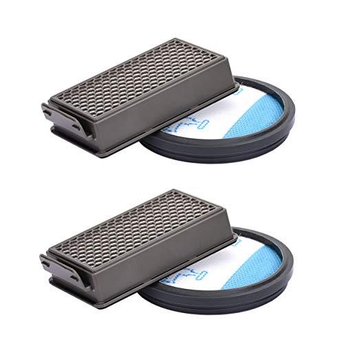 2pcs Yolando Kit de Filtres pour Rowenta / Moulinex / Tefal Compact Power Cyclonic Aspirateurs, Accessoire de Remplacement du Système de Filtration ZR005901