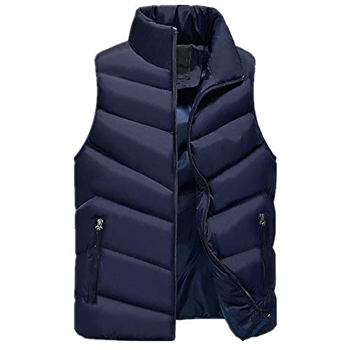 Chaleco de invierno grueso con capucha de plumón de algodón chaleco casual térmico suave sin mangas chaqueta de los hombres chaleco sombrero desmontable