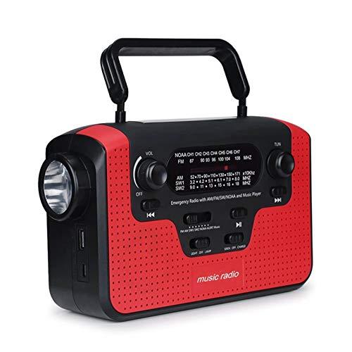 Syan Radio Solar Bluetooth con lámpara de Lectura para Camping, Radio multifunción con generador Manual, Idea para el hogar, Dormitorio, Coche, camión, Camping, Senderismo, Patio, jardín