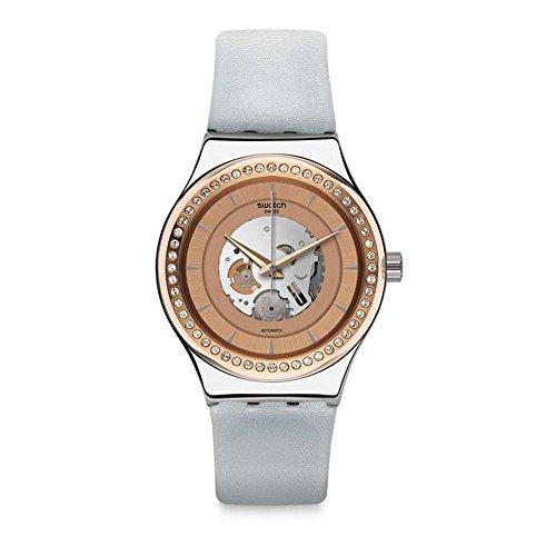 Swatch Orologio Analogico Automatico Unisex con Cinturino in Pelle YIS415