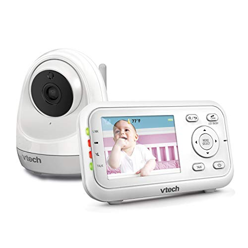 """VTech VM3261 2.8"""" Digital Video Baby Monitor with Pan & Tilt Camera, Full Color and Automatic Night Vision, White"""