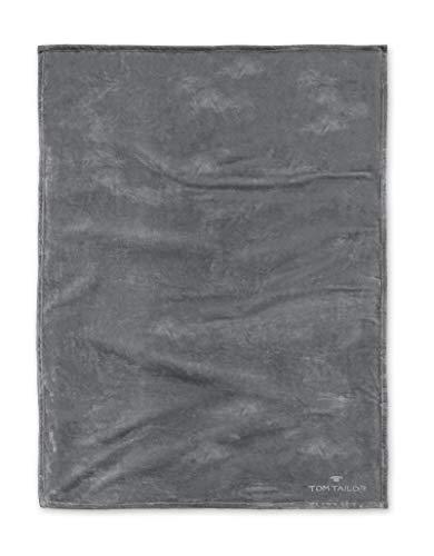 TOM TAILOR 0237798 Wohndecke Microfaser  1x 180x220 cm, anthrazit