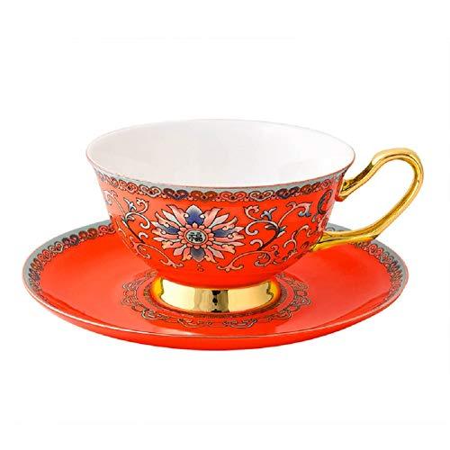 DR NF Untertassen Keramik gelb glasur geprägt Kaffee Tasse untertasse löffel Set Bone Tee Tasse untertasse Set tazas C1011
