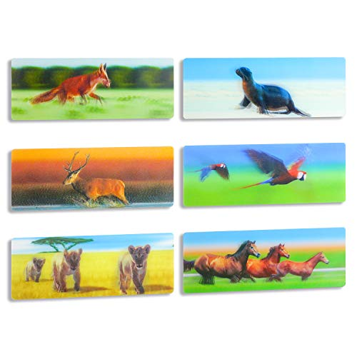 3D Lenticular Bookmarks Fun Bookmarks for Kids (6pcs)