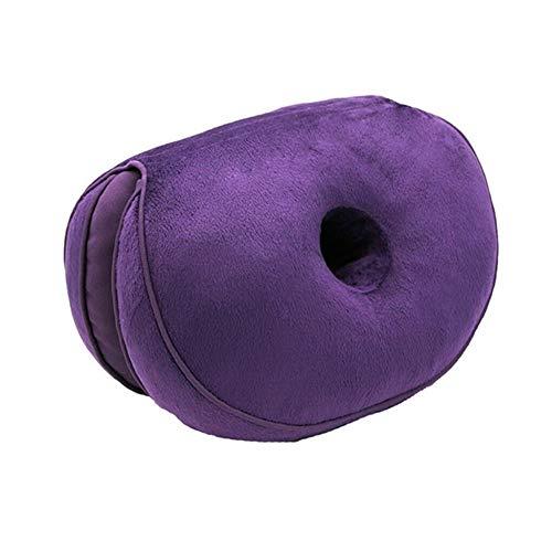 Seat Cushion Office Chair Cushion, Car Cushion Office Chair Cushion Anti-Hemorrhoids Latex Massage, Yoga Push-ups and Comfortable Orthopedic Foam Pillows (Color : Purple)