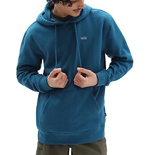 Vans Basic Crew Fleece Sudadera, Azul Marroquí, L para Hombre