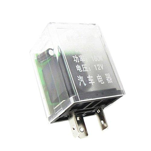 MagiDeal Relais Voiture 12V 160W 3 Pin Clignotant Indicateur De Lumière Électronique