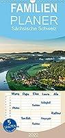 Saechsische Schweiz / Geburtstagsplaner - Familienplaner hoch (Wandkalender 2022 , 21 cm x 45 cm, hoch): Traumhafte Landschaft im Elbsandsteingebirge (Monatskalender, 14 Seiten )