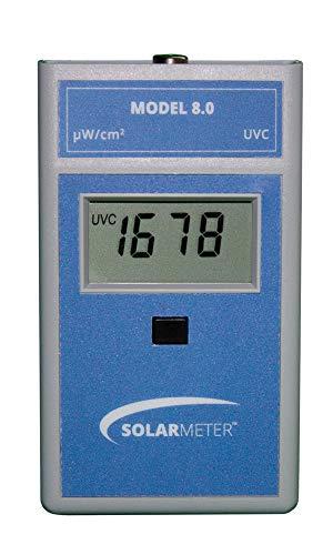 Solarmeter Model 8.0 UVC Meter - Measures 254 +/-8nm with Range from 0-1999 µW/cm² UVC