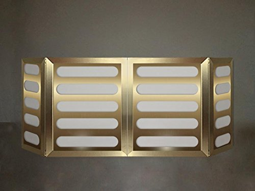 Why Should You Buy DJ Facade / DJ Booth by Dragon Frontboards: Qwestoo 4 Panel / Gold Veneer Frame