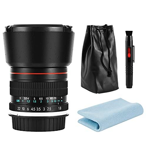 JINTU 85mm F1.8 Telephoto MF Manual Focus Portrait Prime Lens Fix Focal for Nikon Camera D5000 D5100 D5200 D5300 D5400 D5500 D5600 D3600 D3500 D3400 D3300 D3200 D3100 D3000 D90 D80 D7500 D7200 D7100