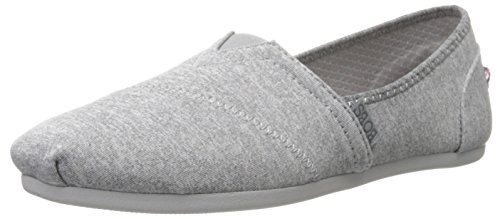BOBS from Skechers Women's Bobs Plush Express Yourself Flat, Grey, 8 M US