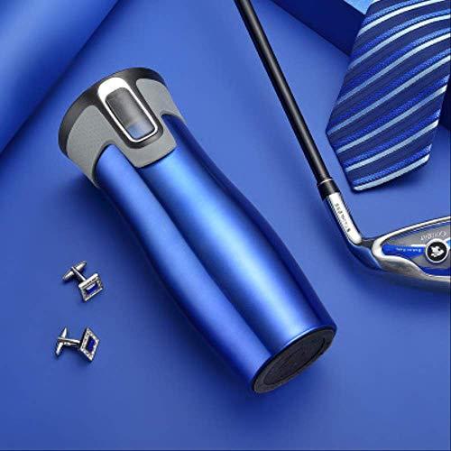 WEIWEIFA Edelstahl-Isolierflasche High-End-Business-Kaffeetasse Vakuum Auto Tasse österreichischen Körper Becher Geschenk 450ML 450 ml Blau
