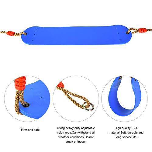 Kinder Schaukelsitz Hochleistungsschaukelsitz Eva Soft Board Outdoor Schaukelstuhl für Indoor Outdoor Schaukel Zubehör(Blau)