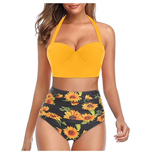 QIMANZI Bikini-Set Damen Retro Stil...